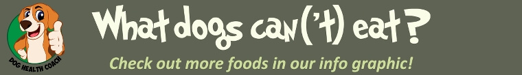 Human foods dogs can and cannot eat banner